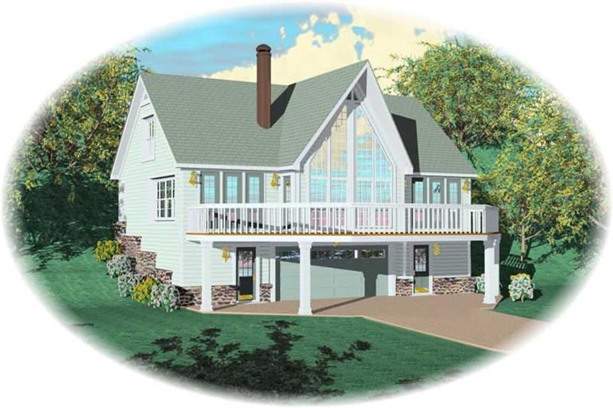 3-Bedroom, 1318 Sq Ft Country House Plan - 170-2836 - Front Exterior