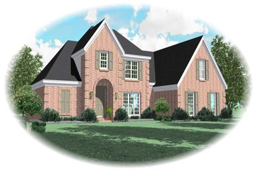 4-Bedroom, 2592 Sq Ft Country House Plan - 170-2837 - Front Exterior