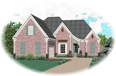 3-Bedroom, 1886 Sq Ft Country House Plan - 170-2839 - Front Exterior