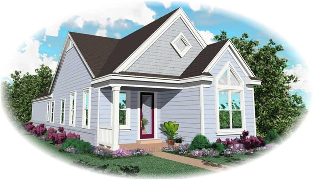 Front elevation of Country home (ThePlanCollection: House Plan #170-2841)