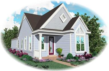 2-Bedroom, 1200 Sq Ft Country House Plan - 170-2841 - Front Exterior