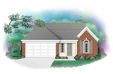 3-Bedroom, 1253 Sq Ft Ranch House Plan - 170-2843 - Front Exterior