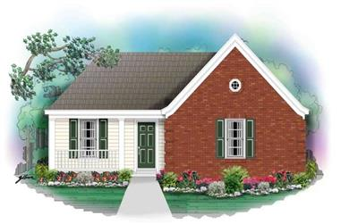 3-Bedroom, 1142 Sq Ft Small House Plans - 170-2846 - Main Exterior