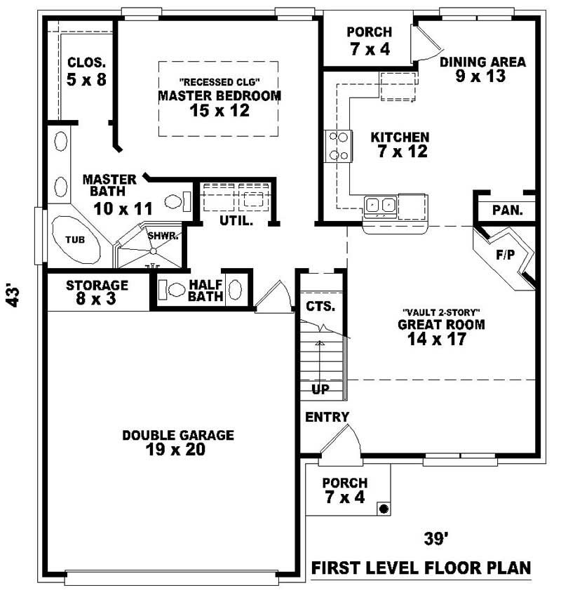 Traditional french house plans home design su b1129 429 for 429 plan