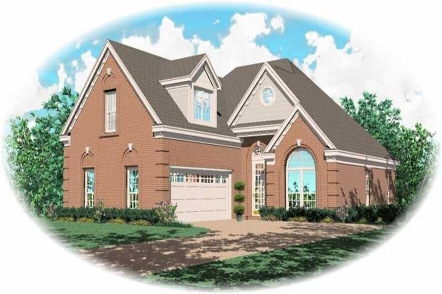 3-Bedroom, 1943 Sq Ft French House Plan - 170-2850 - Front Exterior