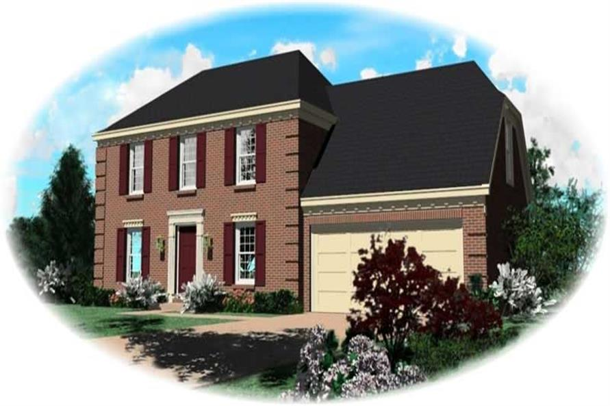 3-Bedroom, 1862 Sq Ft French Home Plan - 170-2854 - Main Exterior