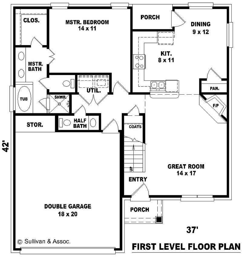Multi level french country house plans home design su for Multi level floor plans