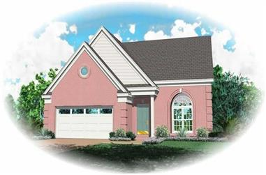 3-Bedroom, 1423 Sq Ft Country Home Plan - 170-2857 - Main Exterior
