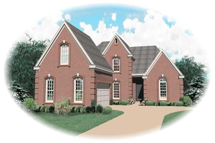 4-Bedroom, 2887 Sq Ft Country Home Plan - 170-2863 - Main Exterior