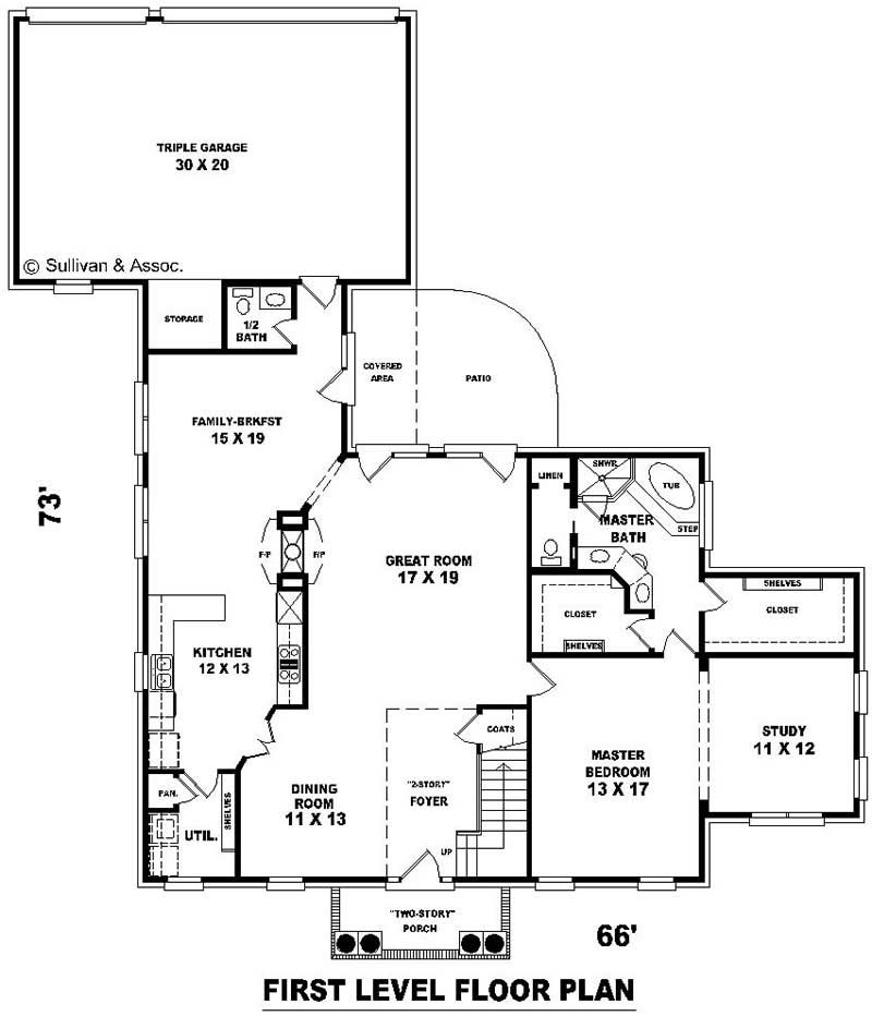 Traditional french house plans home design su b1922 for Floor plan in french