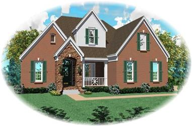4-Bedroom, 3259 Sq Ft Country Home Plan - 170-2870 - Main Exterior