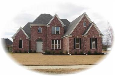 3-Bedroom, 3051 Sq Ft French Home Plan - 170-2871 - Main Exterior
