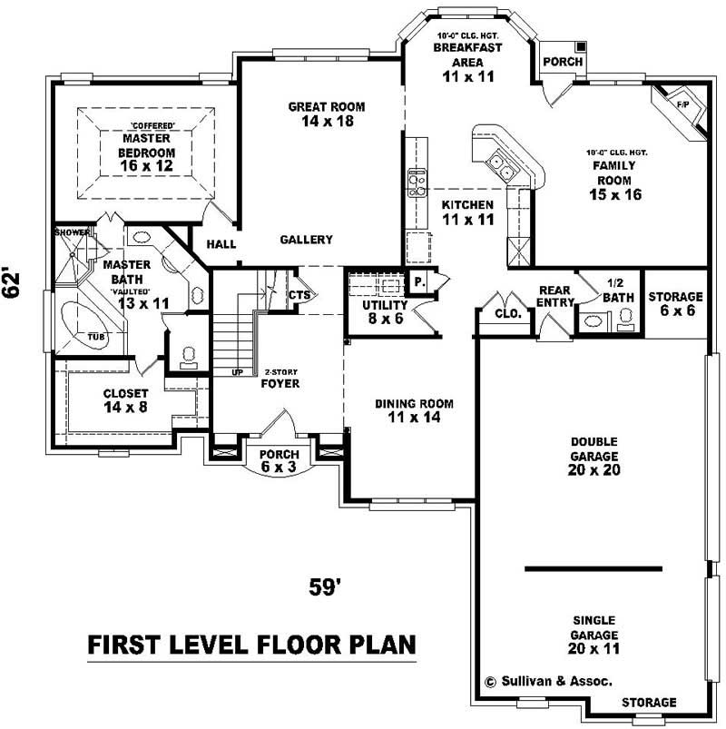 French house plans home design su b1900 1193 761 f 10171 for Floor plans 761 bay street