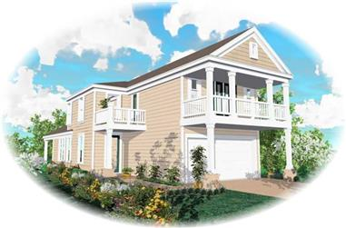 3-Bedroom, 1738 Sq Ft Coastal Home Plan - 170-2876 - Main Exterior