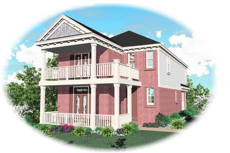3-Bedroom, 1688 Sq Ft Coastal Home Plan - 170-2879 - Main Exterior
