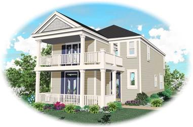 3-Bedroom, 1670 Sq Ft Coastal Home Plan - 170-2880 - Main Exterior