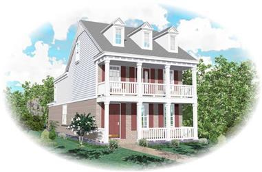 3-Bedroom, 2102 Sq Ft Cape Cod Home Plan - 170-2881 - Main Exterior