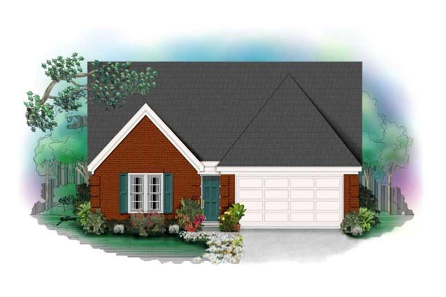 4-Bedroom, 1622 Sq Ft Small House Plans - 170-2885 - Main Exterior