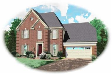 1-Bedroom, 1991 Sq Ft French Home Plan - 170-2886 - Main Exterior