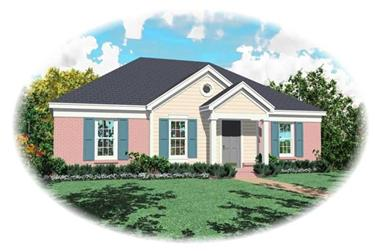 3-Bedroom, 1095 Sq Ft Small House Plans - 170-2887 - Main Exterior