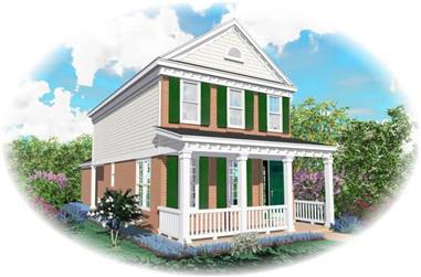 2-Bedroom, 1358 Sq Ft Coastal House Plan - 170-2890 - Front Exterior