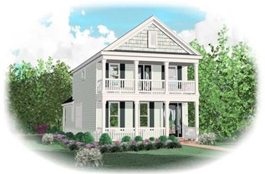 3-Bedroom, 1943 Sq Ft Coastal House Plan - 170-2899 - Front Exterior