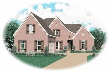 4-Bedroom, 2887 Sq Ft Country Home Plan - 170-2901 - Main Exterior