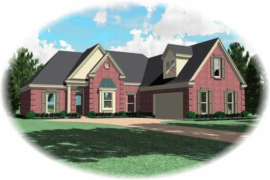 3-Bedroom, 1877 Sq Ft Ranch Home Plan - 170-2904 - Main Exterior