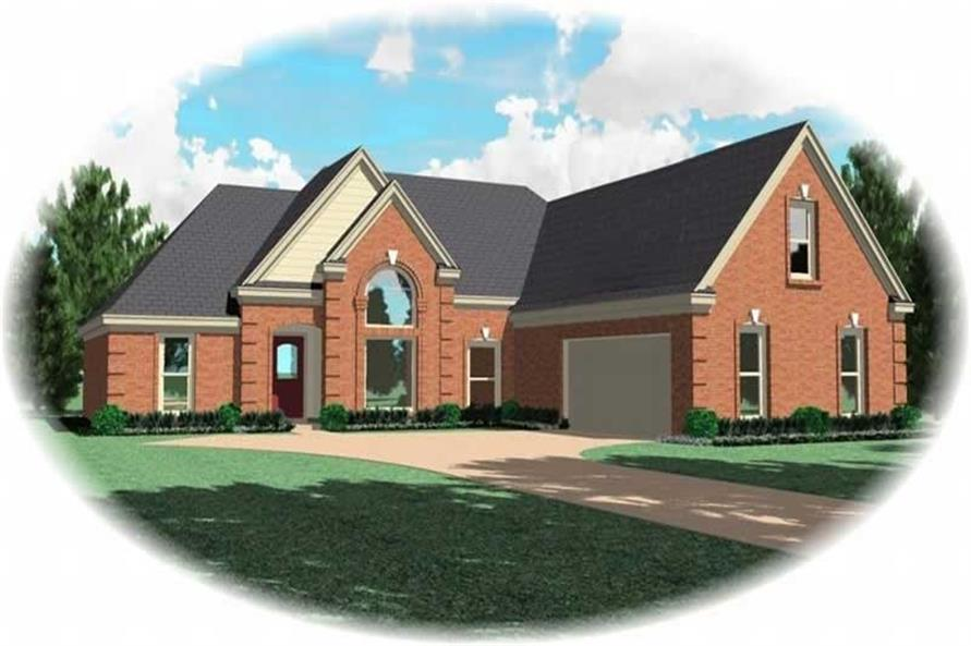 3-Bedroom, 2186 Sq Ft French House Plan - 170-2905 - Front Exterior