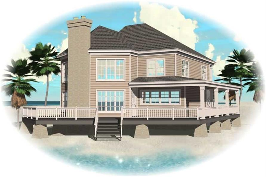 3-Bedroom, 2827 Sq Ft Country House Plan - 170-2906 - Front Exterior