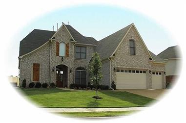 4-Bedroom, 3755 Sq Ft French House Plan - 170-2907 - Front Exterior