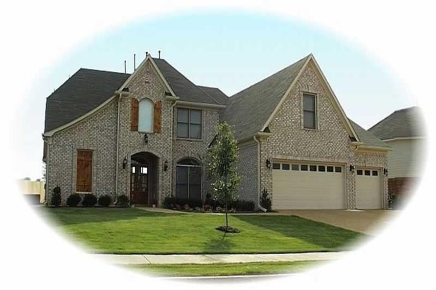 4-Bedroom, 3408 Sq Ft French House Plan - 170-2910 - Front Exterior