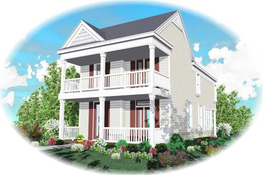 3-Bedroom, 1855 Sq Ft Coastal Home Plan - 170-2911 - Main Exterior