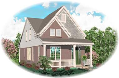 4-Bedroom, 1849 Sq Ft Coastal House Plan - 170-2912 - Front Exterior
