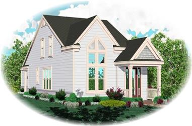 4-Bedroom, 1798 Sq Ft Coastal House Plan - 170-2915 - Front Exterior