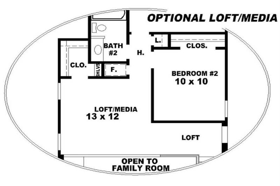 Home Plan Rendering of this 4-Bedroom,1798 Sq Ft Plan -170-2915