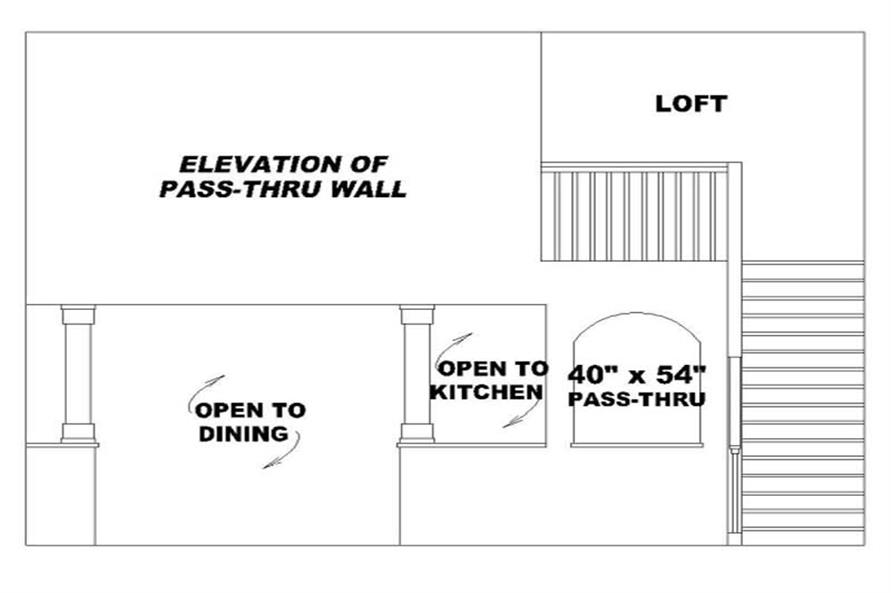 ELEVATION OF PASS-THRU WALL