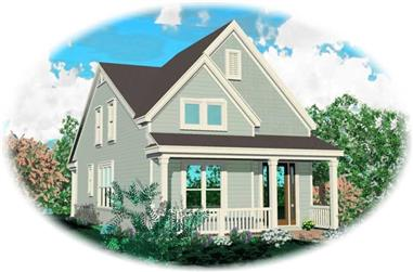 3-Bedroom, 1598 Sq Ft Coastal Home Plan - 170-2918 - Main Exterior