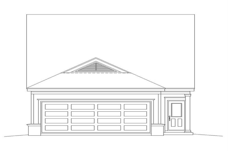 Home Plan Rear Elevation of this 3-Bedroom,1598 Sq Ft Plan -170-2918