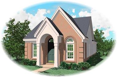 3-Bedroom, 1185 Sq Ft French Home Plan - 170-2921 - Main Exterior