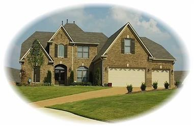 4-Bedroom, 3722 Sq Ft French House Plan - 170-2922 - Front Exterior