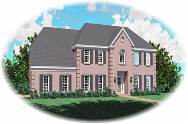 4-Bedroom, 3121 Sq Ft French Home Plan - 170-2925 - Main Exterior