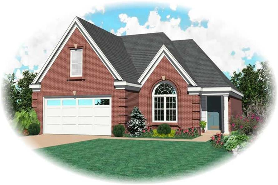 3-Bedroom, 1859 Sq Ft French House Plan - 170-2936 - Front Exterior