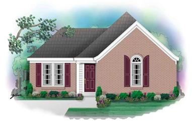 3-Bedroom, 1212 Sq Ft Small House Plans - 170-2939 - Front Exterior