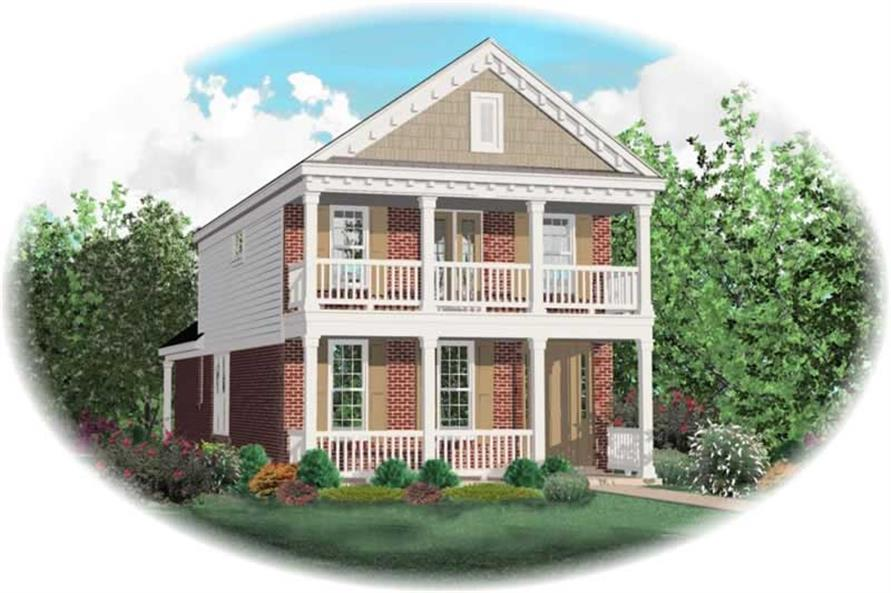 3-Bedroom, 1998 Sq Ft Colonial House Plan - 170-2940 - Front Exterior