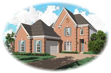 3-Bedroom, 2362 Sq Ft French Home Plan - 170-2944 - Main Exterior