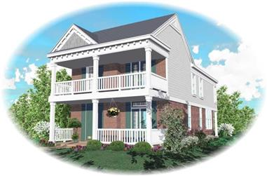 4-Bedroom, 1998 Sq Ft Coastal Home Plan - 170-2945 - Main Exterior