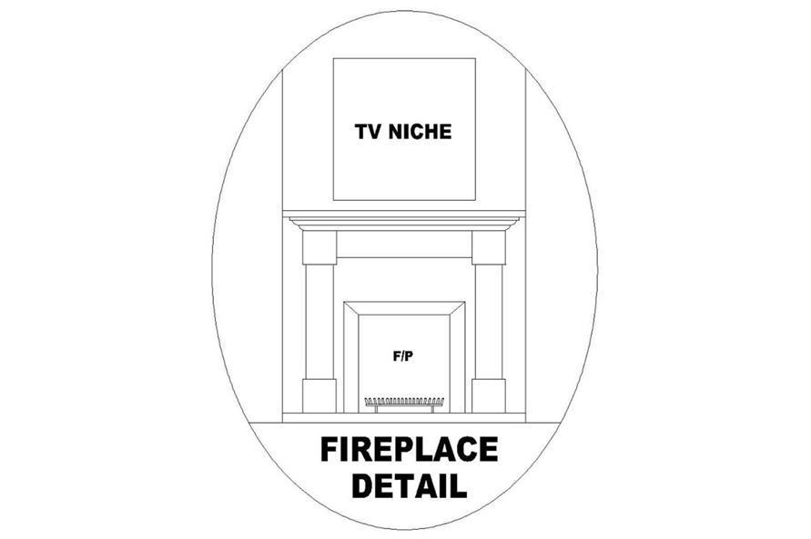 FIREPLACE of this 4-Bedroom,1998 Sq Ft Plan -1998
