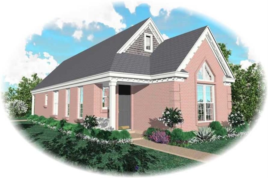 2-Bedroom, 1305 Sq Ft Small House Plans - 170-2946 - Front Exterior