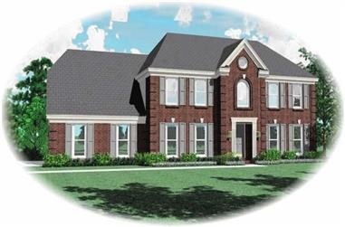 4-Bedroom, 2755 Sq Ft French House Plan - 170-2950 - Front Exterior